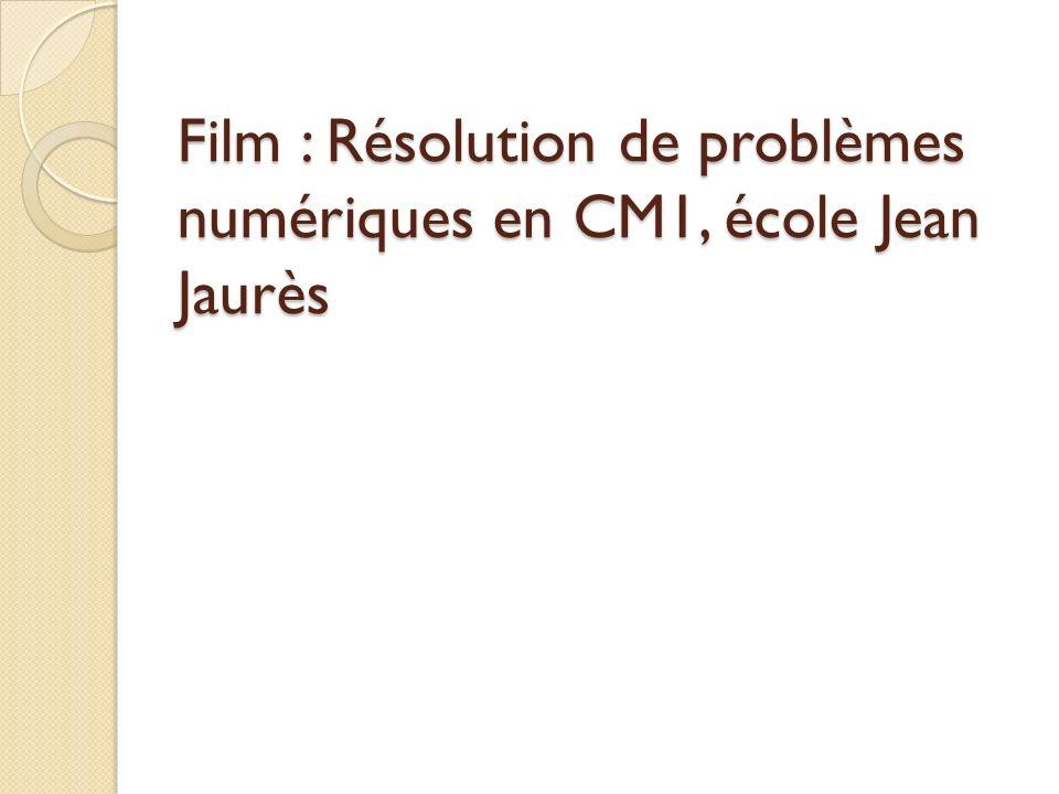 Film : Résolution de problèmes numériques en CM1, école Jean Jaurès