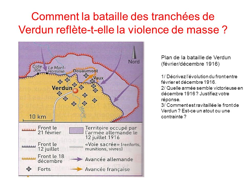 Comment la bataille des tranchées de Verdun reflète-t-elle la violence de masse