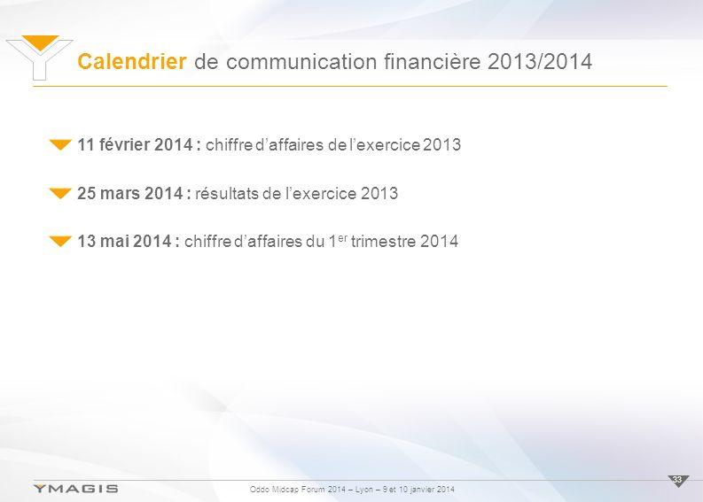 Calendrier de communication financière 2013/2014