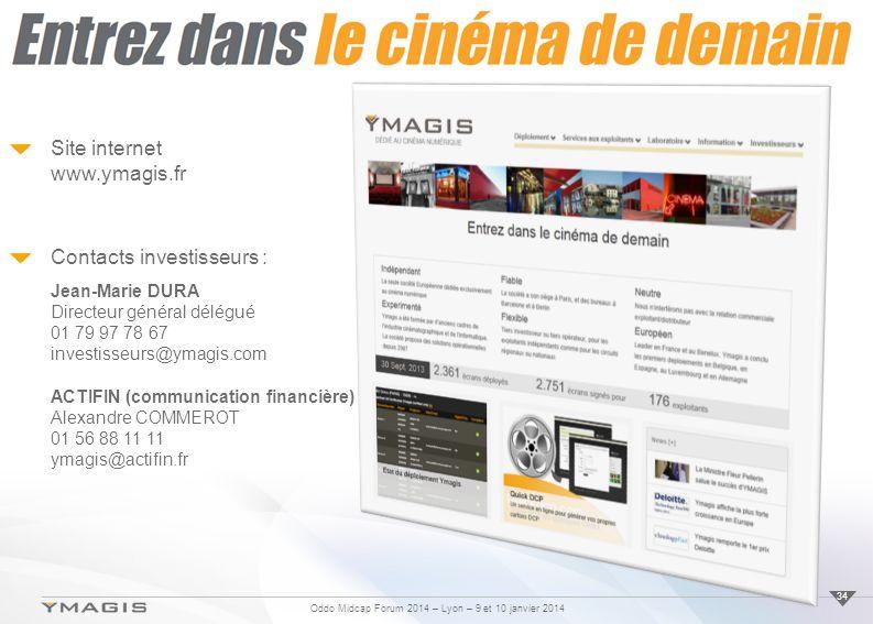 Site internet www.ymagis.fr
