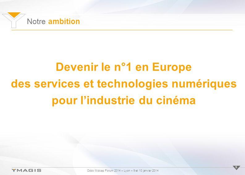 des services et technologies numériques pour l'industrie du cinéma