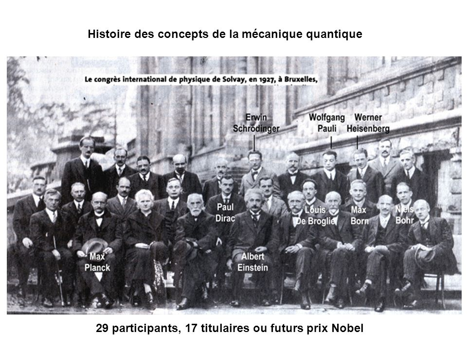 29 participants, 17 titulaires ou futurs prix Nobel