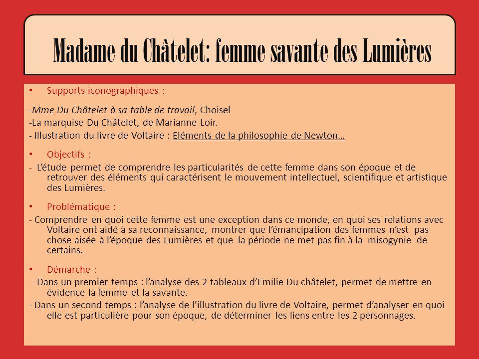 Madame du Châtelet: femme savante des Lumières