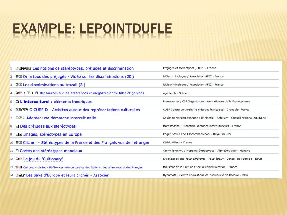 example: lepointdufle
