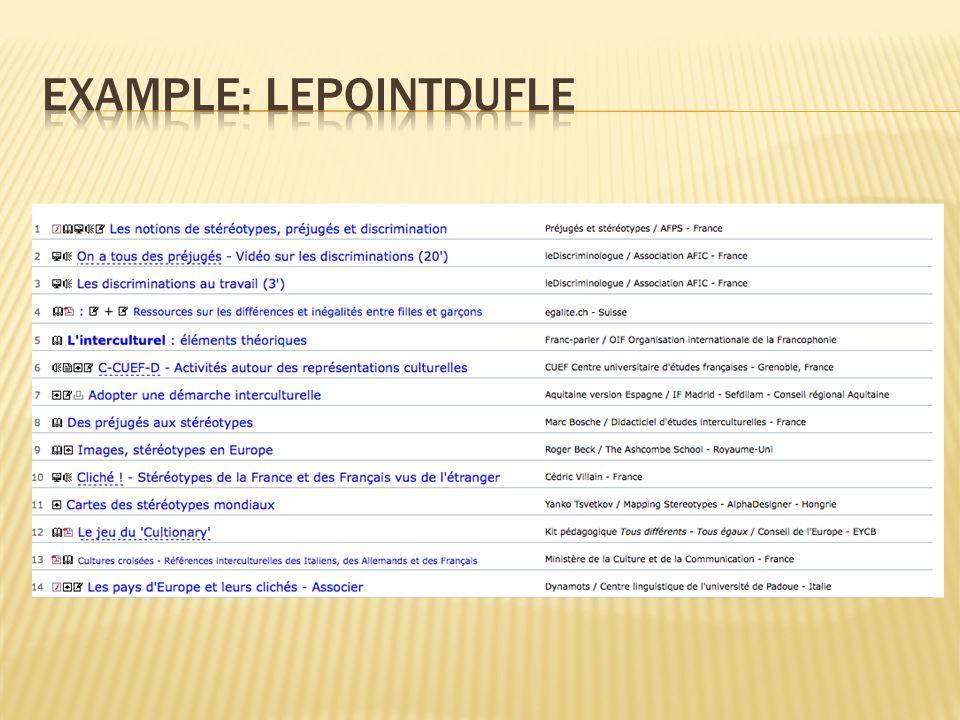 example: lepointdufle