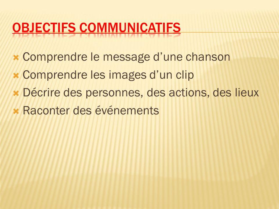 Objectifs communicatifs