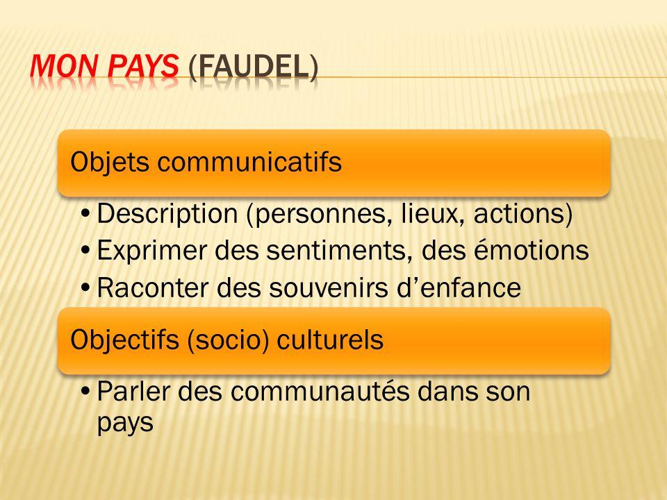 Mon pays (Faudel) Objets communicatifs
