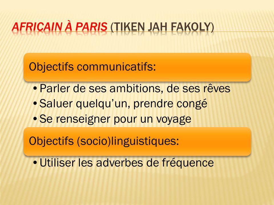 Africain à Paris (Tiken Jah Fakoly)