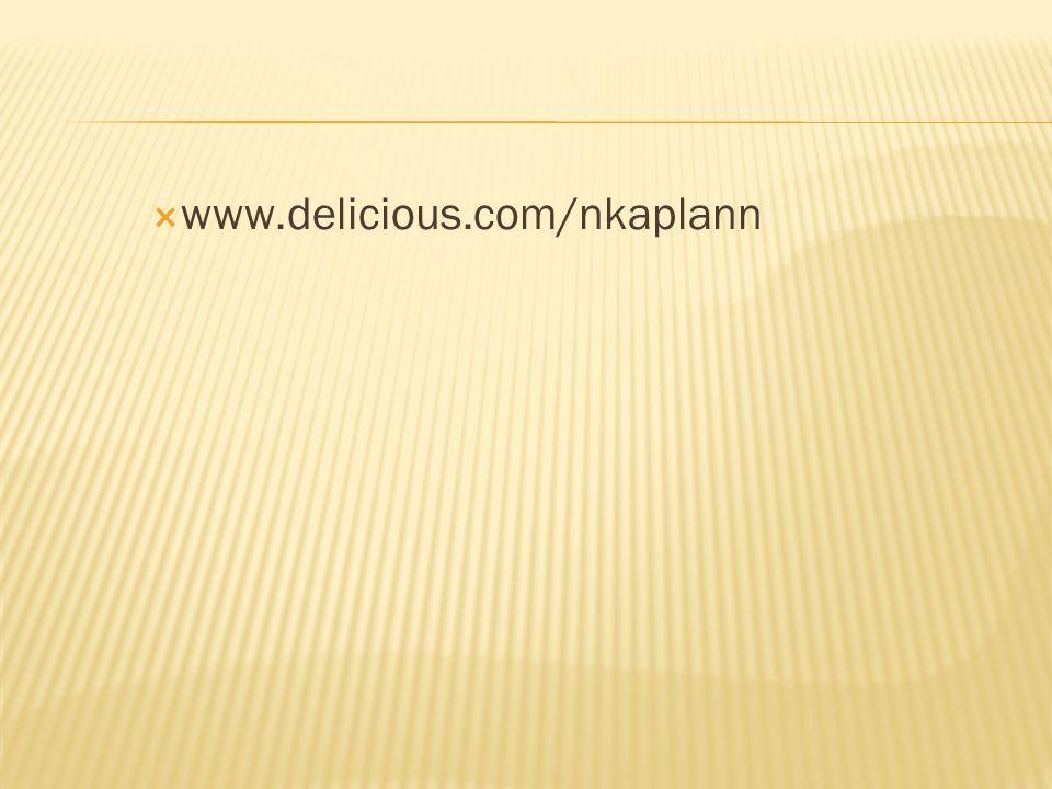 www.delicious.com/nkaplann