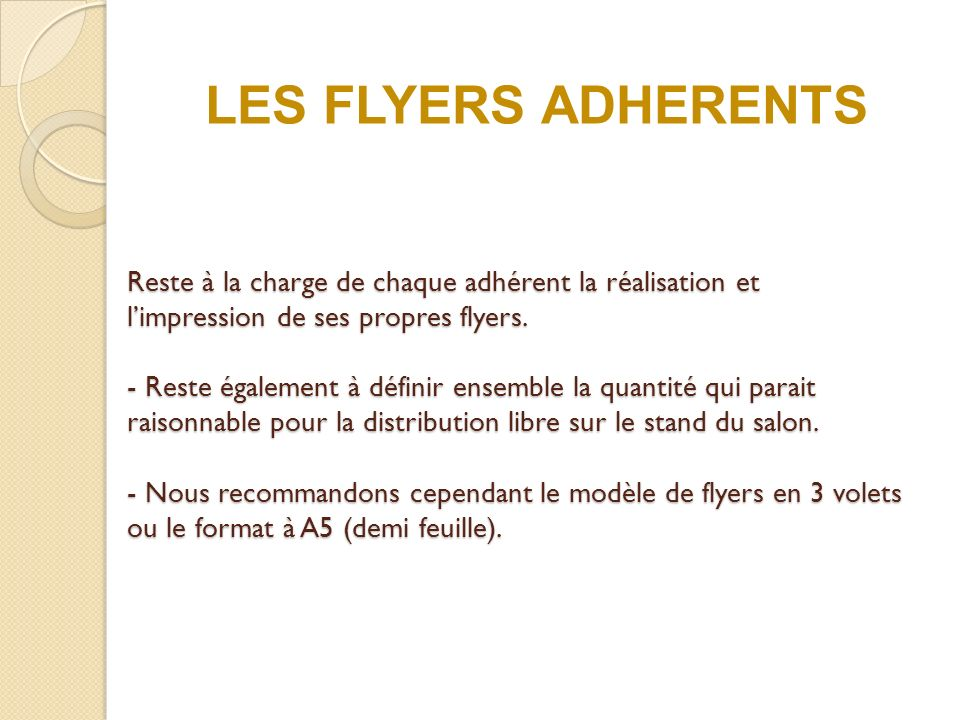 LES FLYERS ADHERENTS