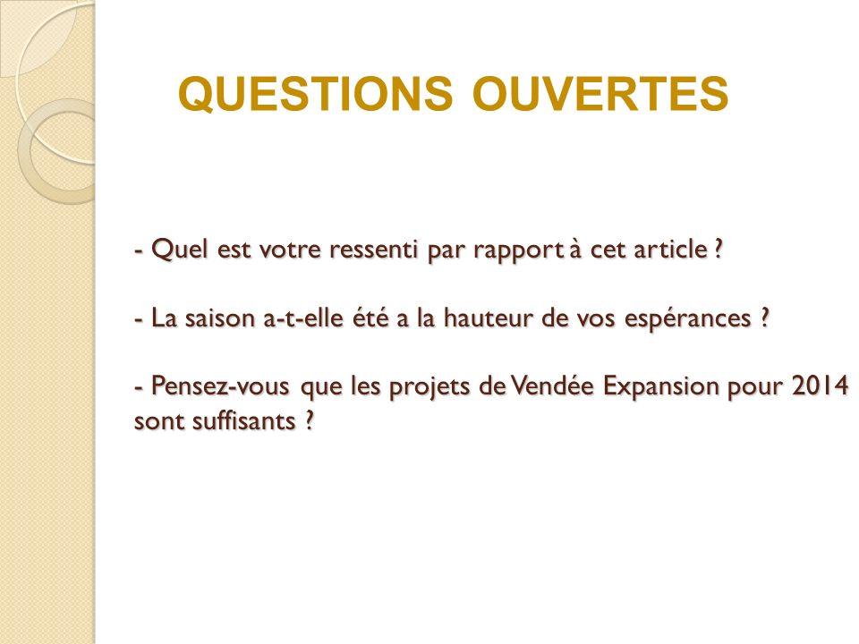 QUESTIONS OUVERTES