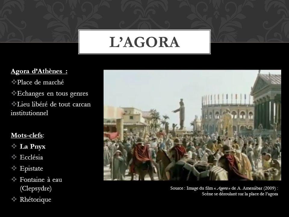 L'Agora Agora d'Athènes : Place de marché Echanges en tous genres