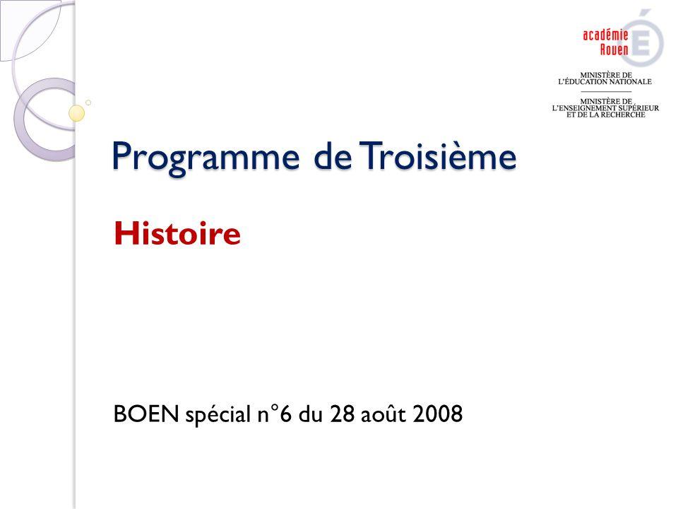 Programme de Troisième