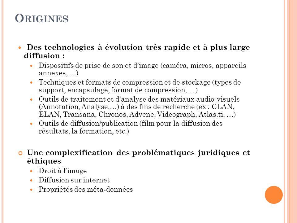 Origines Des technologies à évolution très rapide et à plus large diffusion :
