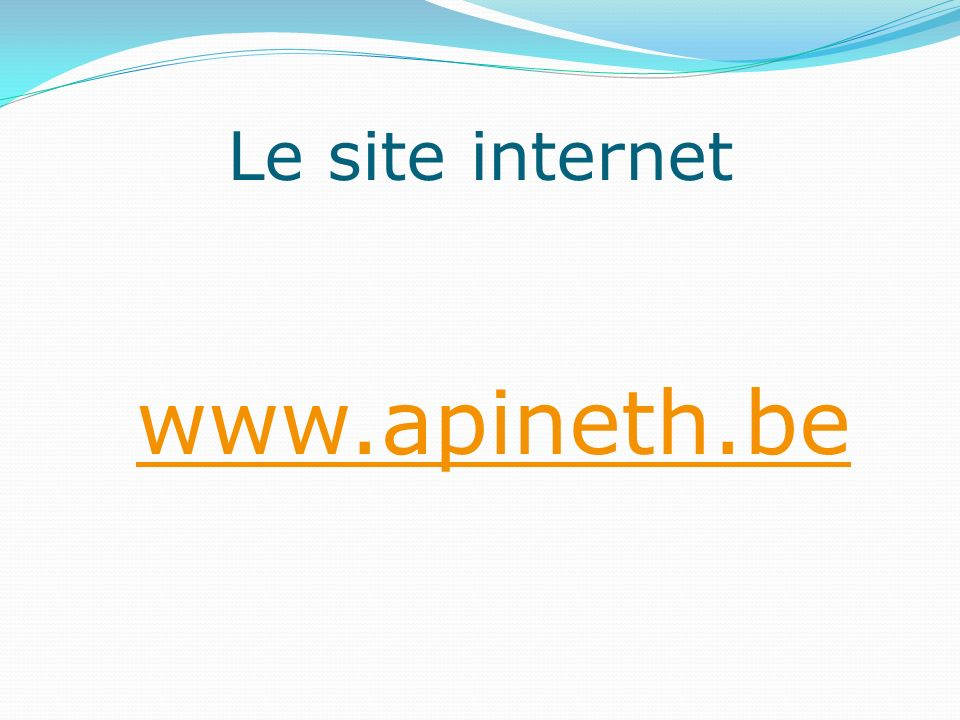 Le site internet www.apineth.be