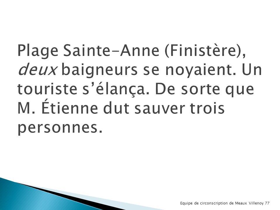 Plage Sainte-Anne (Finistère), deux baigneurs se noyaient