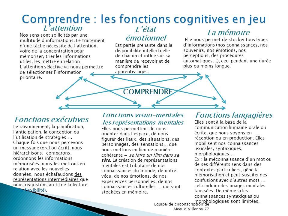 Comprendre : les fonctions cognitives en jeu