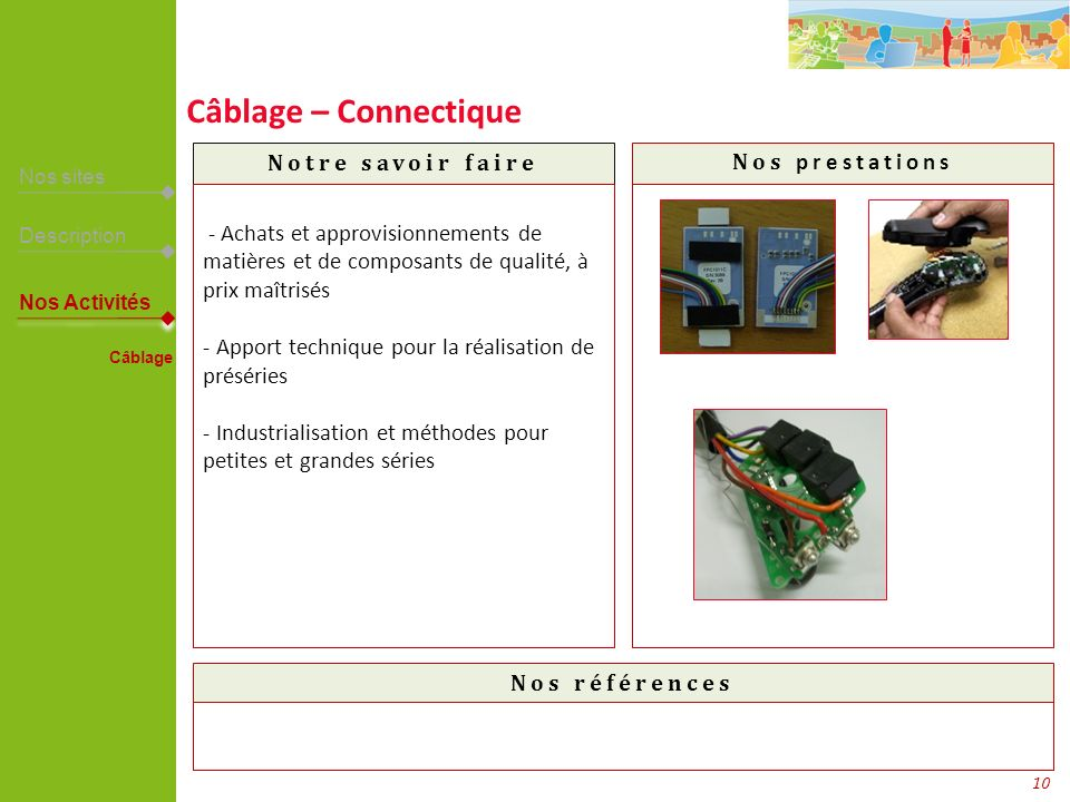 Câblage – Connectique TMC– Cablospeed – PI – France Télécom