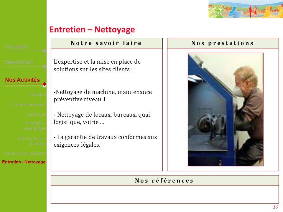 Entretien – Nettoyage SNECMA – LOGLIBRIS – LCM Carrefour