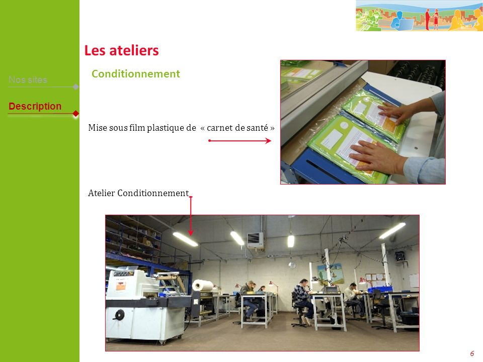 Les ateliers Conditionnement Nos sites Description
