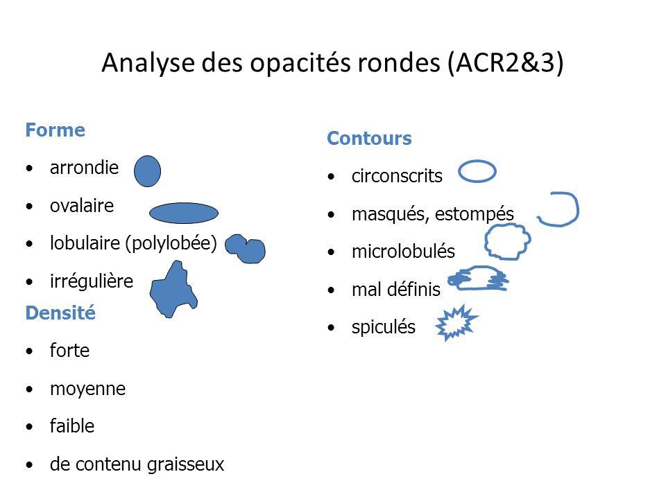 Analyse des opacités rondes (ACR2&3)