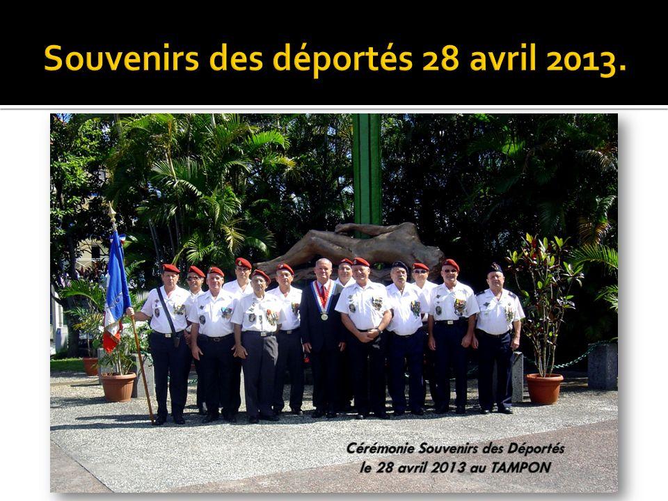 Souvenirs des déportés 28 avril 2013.
