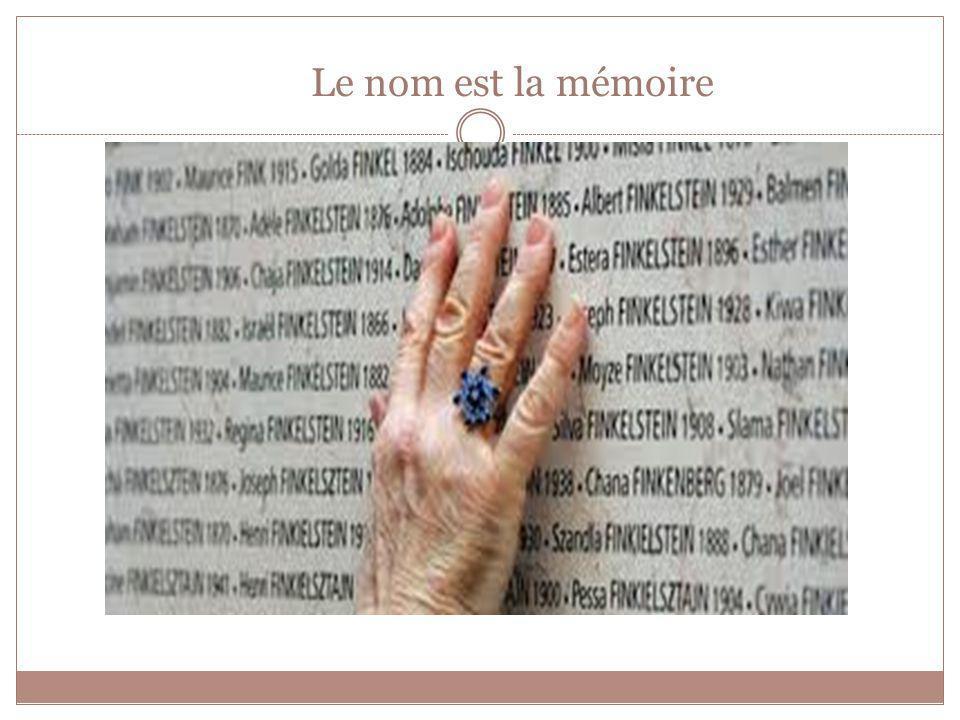 Le nom est la mémoire