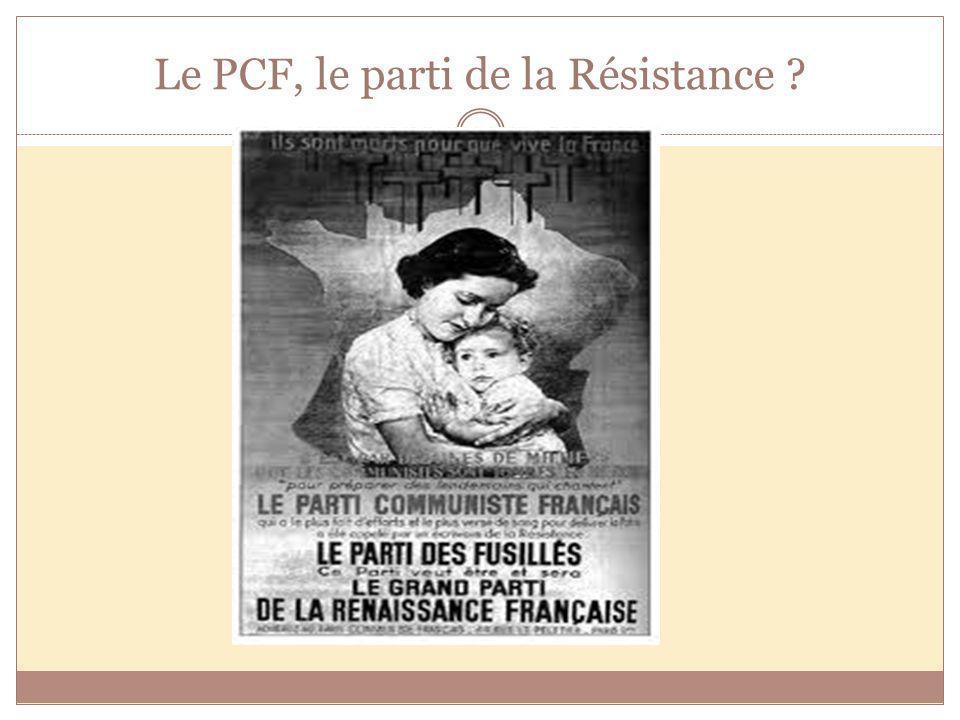 Le PCF, le parti de la Résistance