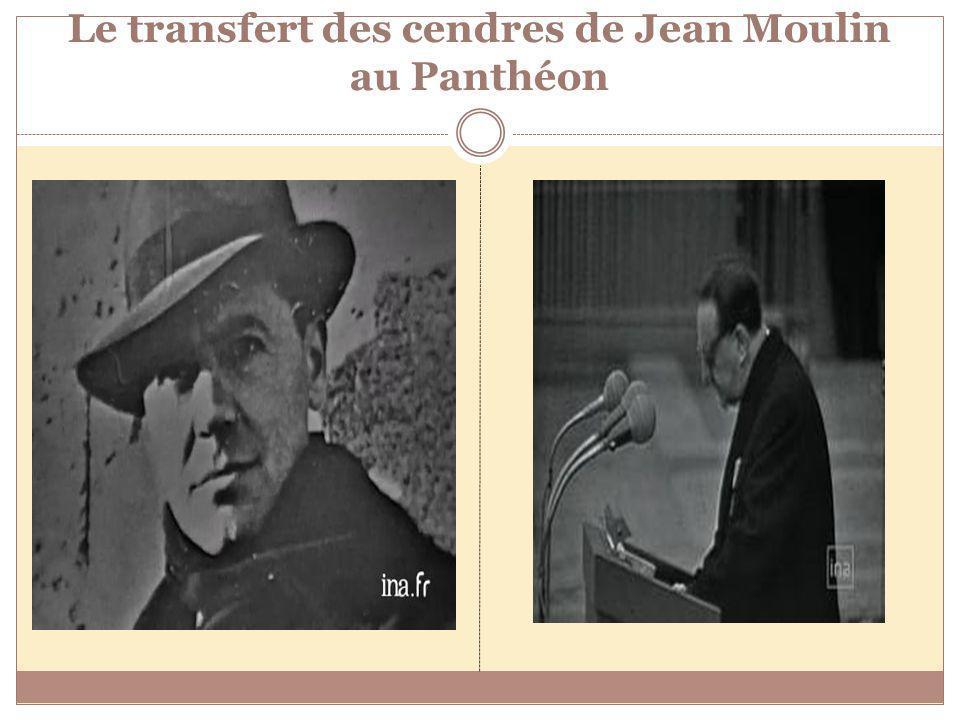Le transfert des cendres de Jean Moulin au Panthéon