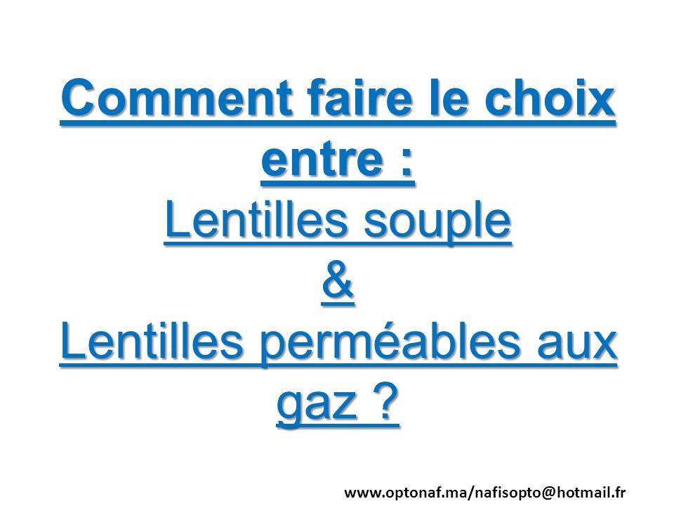 Comment faire le choix entre : Lentilles souple & Lentilles perméables aux gaz