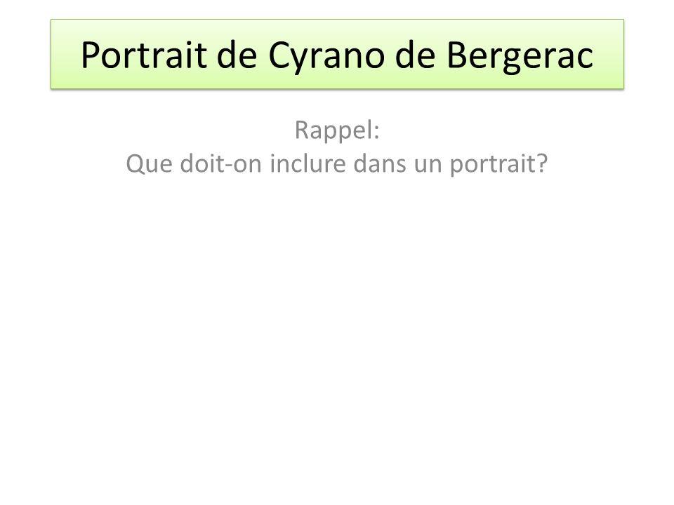 Portrait de Cyrano de Bergerac