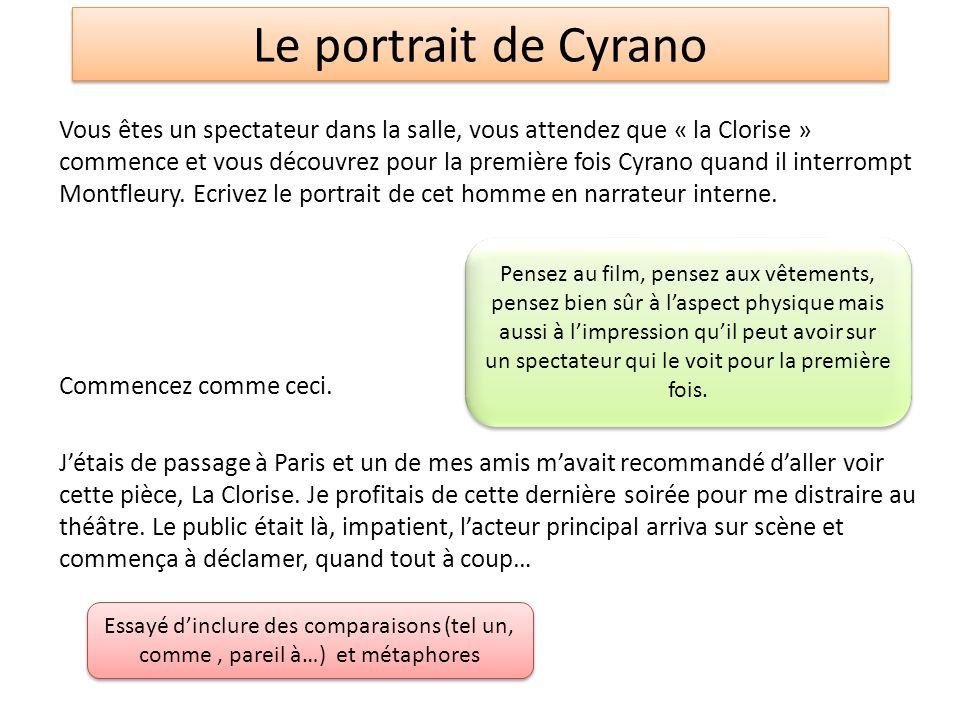 Le portrait de Cyrano