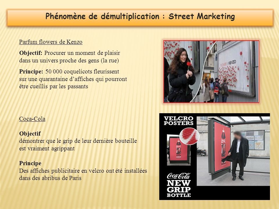 Phénomène de démultiplication : Street Marketing