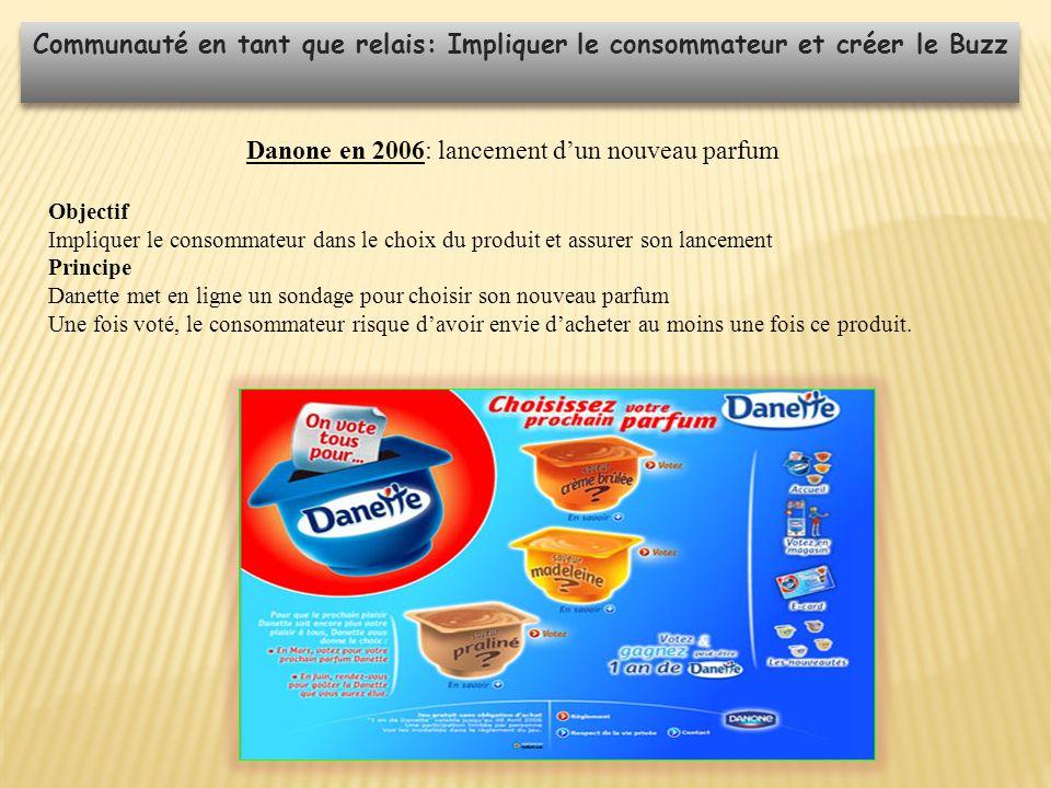 Danone en 2006: lancement d'un nouveau parfum