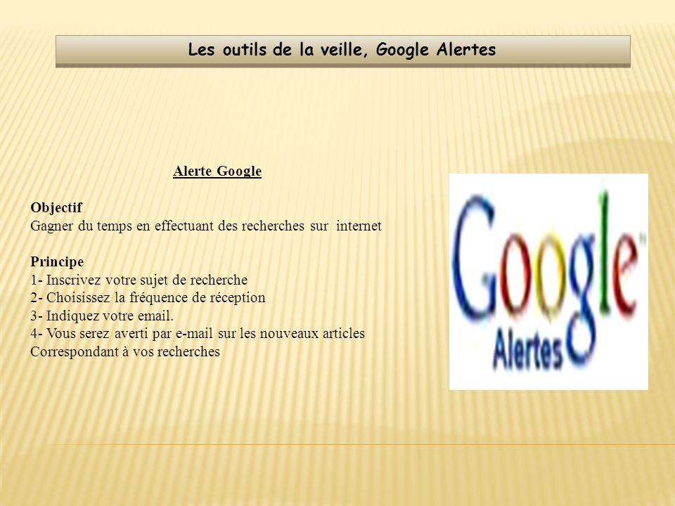 Les outils de la veille, Google Alertes