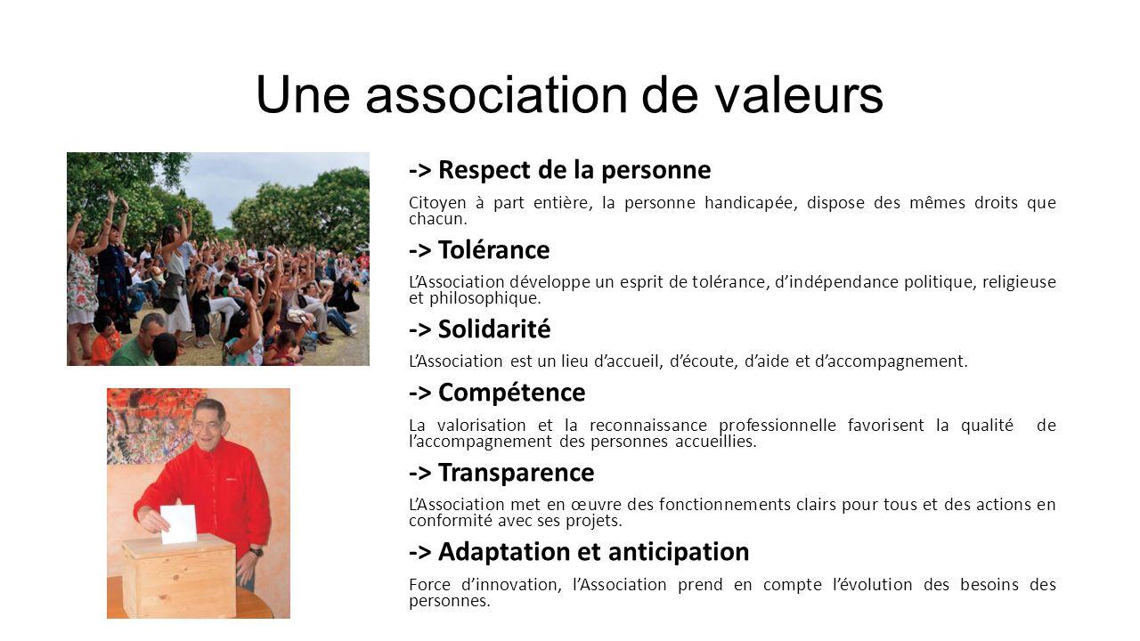 Une association de valeurs