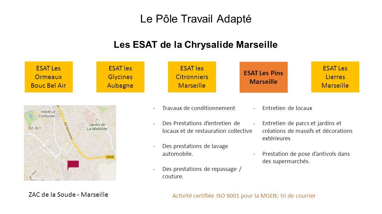 Les ESAT de la Chrysalide Marseille