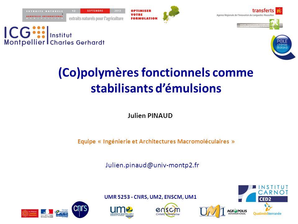 (Co)polymères fonctionnels comme stabilisants d'émulsions