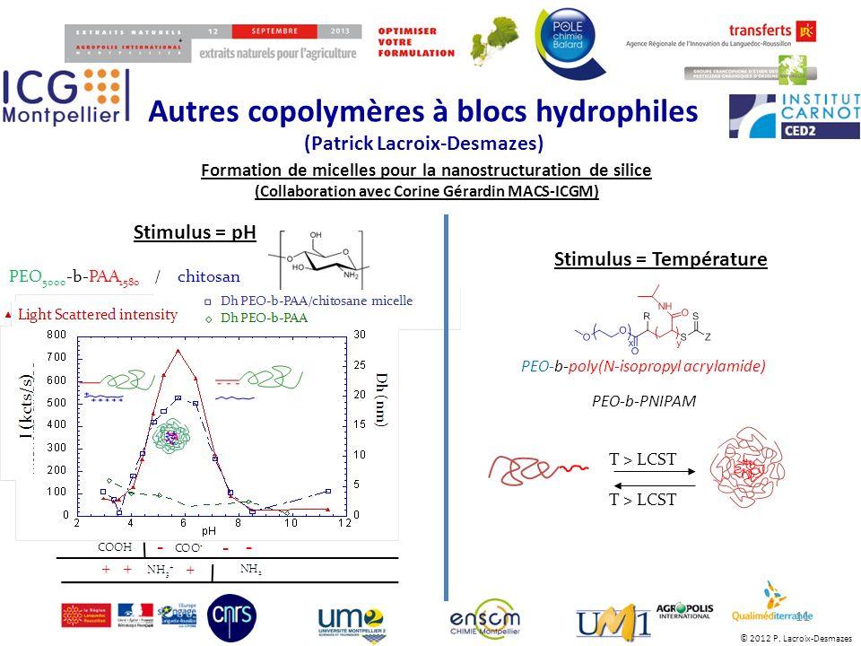 Autres copolymères à blocs hydrophiles (Patrick Lacroix-Desmazes)