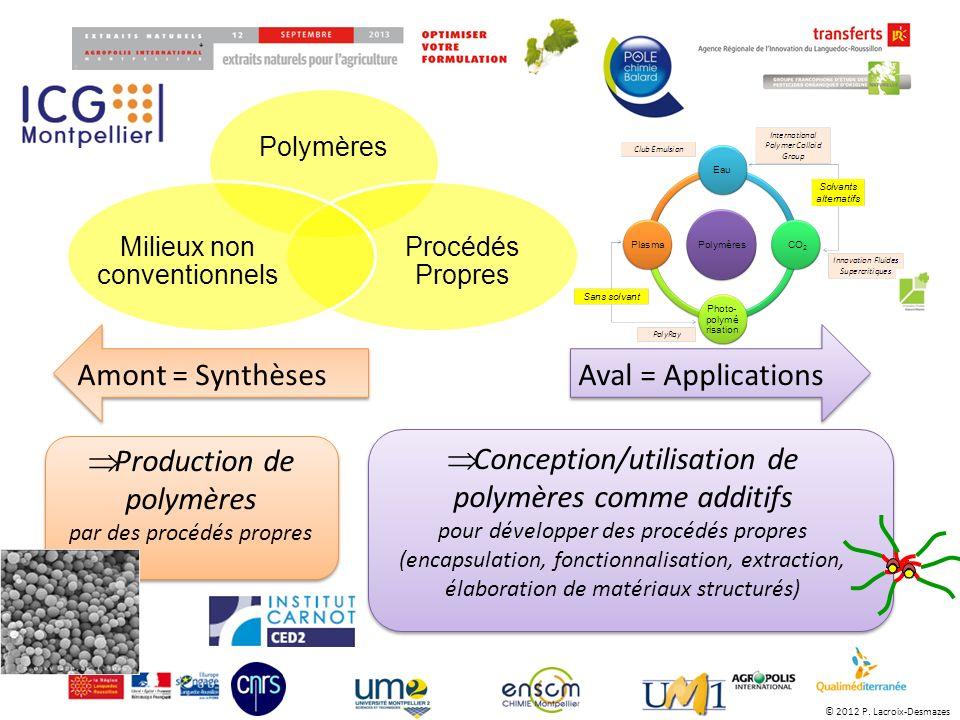 Production de polymères par des procédés propres