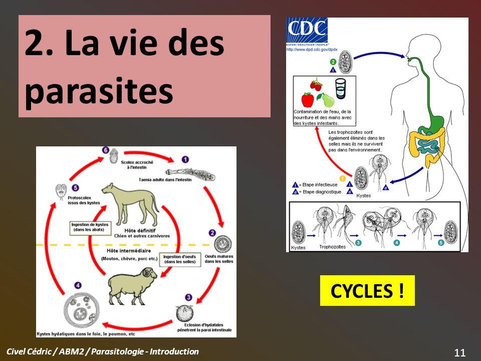 2. La vie des parasites CYCLES !