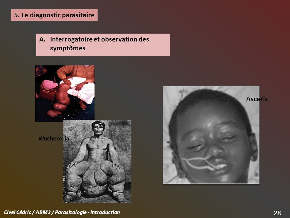 5. Le diagnostic parasitaire