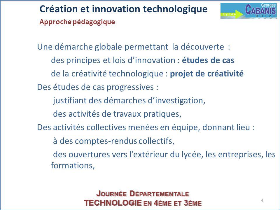 Création et innovation technologique Approche pédagogique