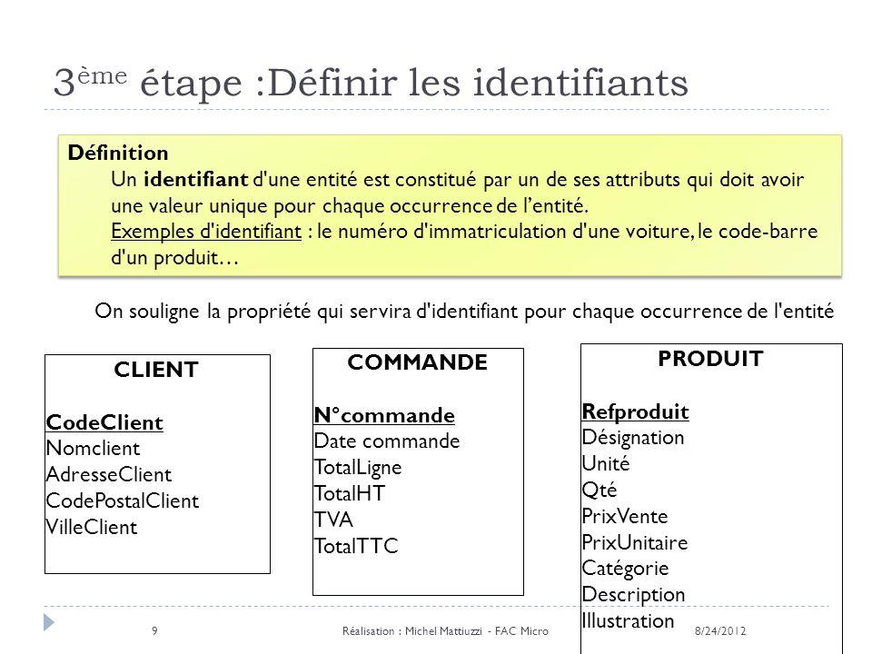 3ème étape :Définir les identifiants