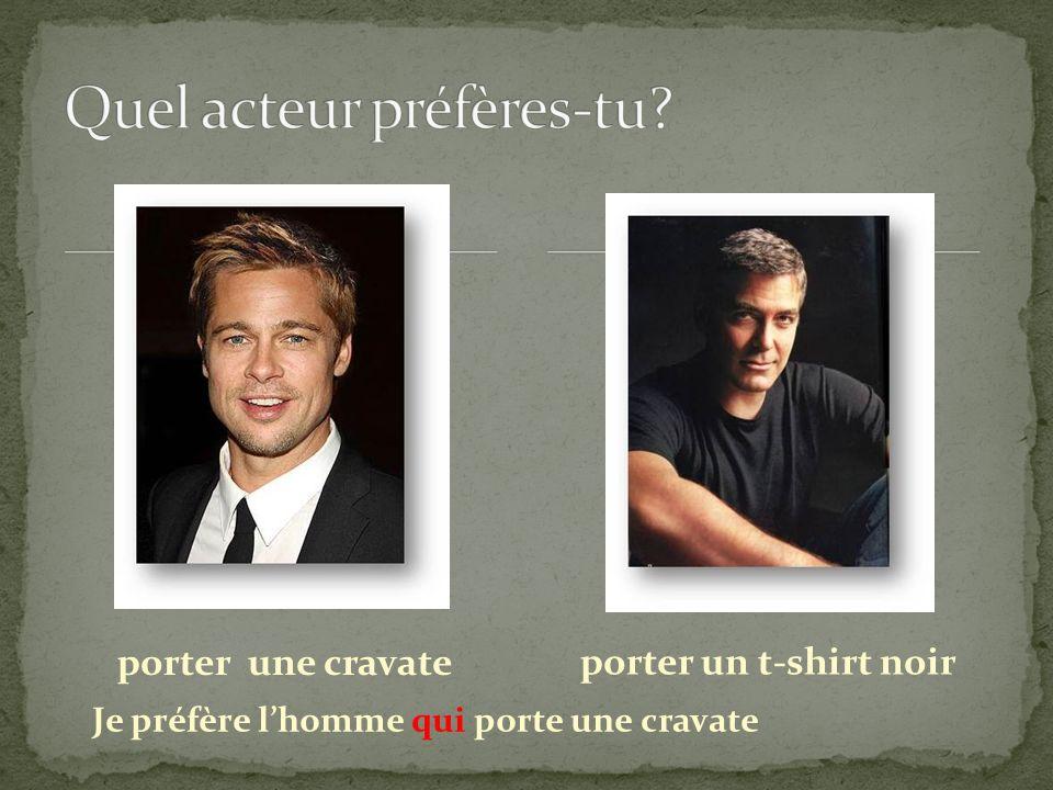Quel acteur préfères-tu