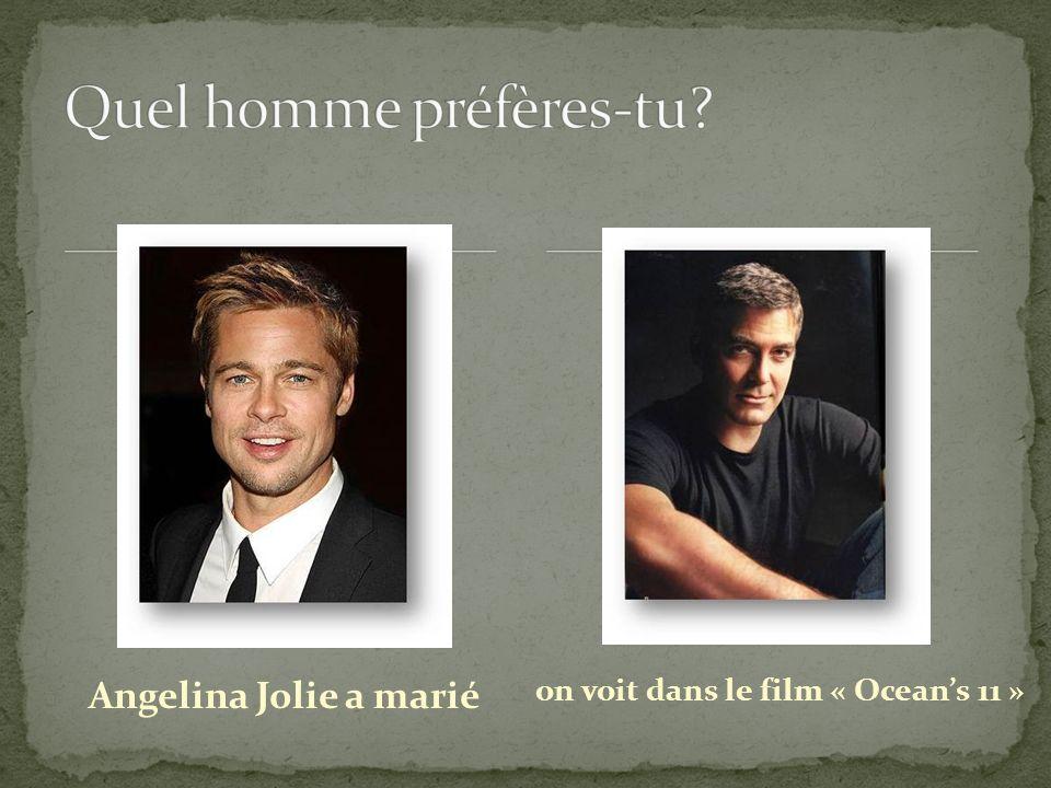 Quel homme préfères-tu