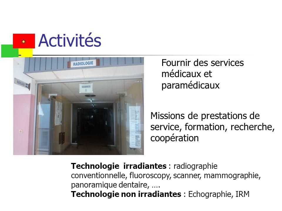 Activités Fournir des services médicaux et paramédicaux