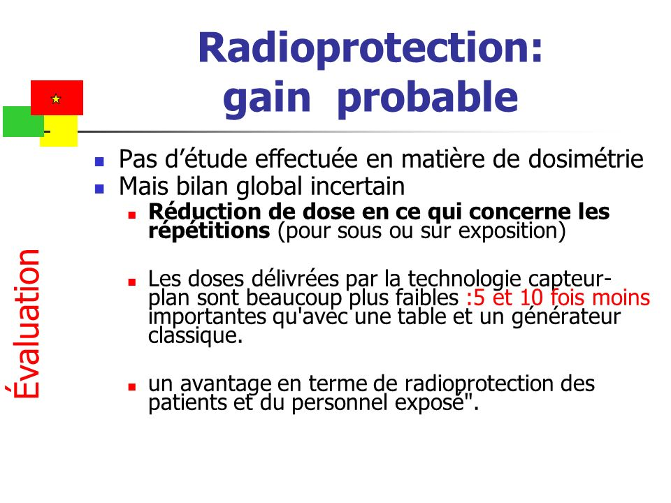 Radioprotection: gain probable