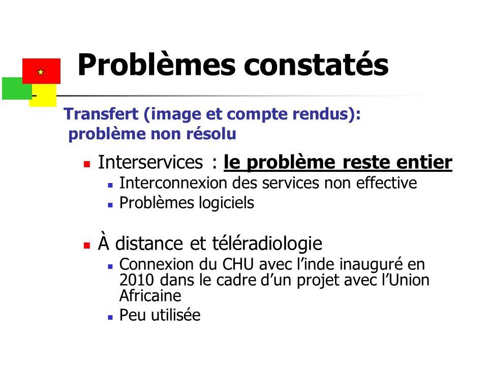 Transfert (image et compte rendus): problème non résolu