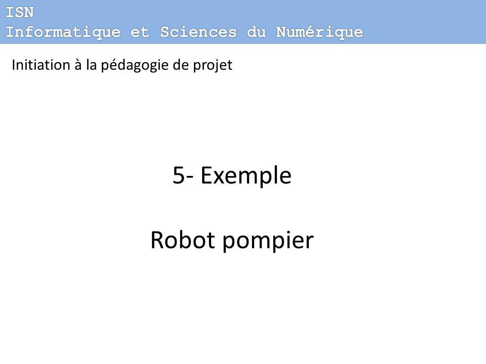 5- Exemple Robot pompier ISN Informatique et Sciences du Numérique